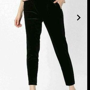 KOOVS Black Velvet Trousers